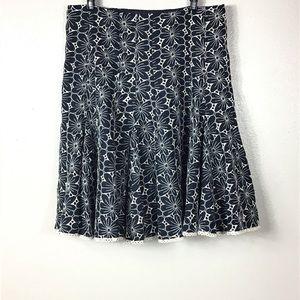 Nanette Lepore Flower Cutout skirt, Sz 8